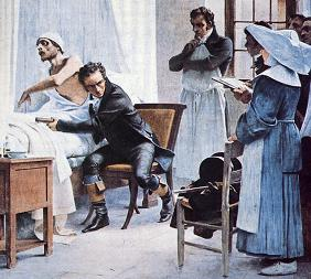 Laennec examines a patient