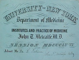 Dr. Metcalfe signed ticket