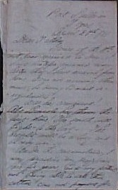 Dr. Robinson civil war letter, 1861