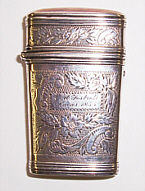 Silver lancet case, closed